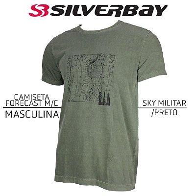 Camiseta Silverbay Forecast M/C - Sky Militar/Black