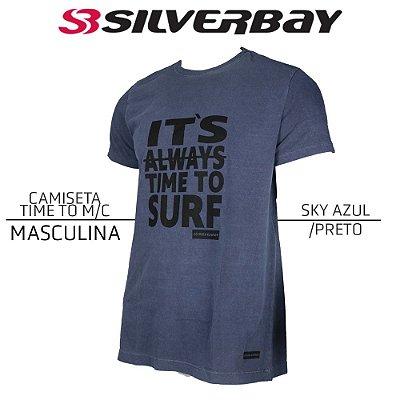 Camiseta Silverbay Time To M/C - Sky Azul/Black