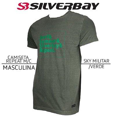 Camiseta Silverbay Repeat M/C - Sky Militar/Verde