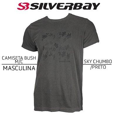 Camiseta Silverbay Bush M/C - Sky Chumbo/Black