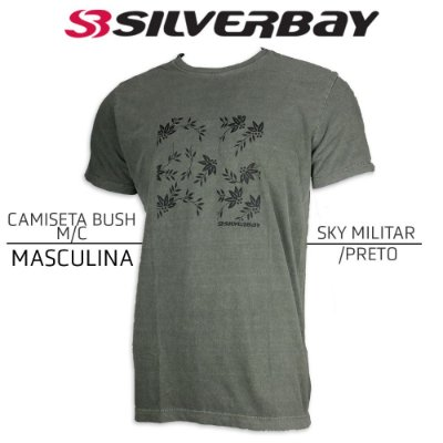 Camiseta Silverbay Bush M/C - Sky Militar/Black