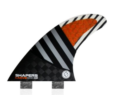 Jogo de Quilhas Shapers Dual Tab Carvn Carbon Hybrid Thruster - ML