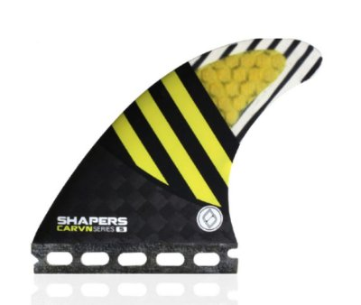Jogo de Quilhas Shapers Single Tab Carvn Carbon Hybrid Thruster - S
