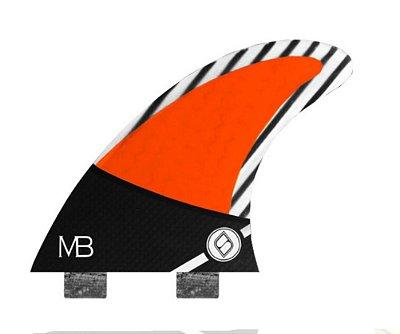 Jogo de Quilhas Shapers Dual Tab Pro Matt Banting MB Carbon Hybrid - S
