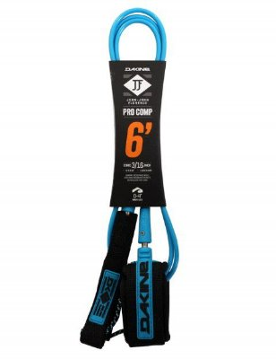 Leash Surf Dakine JOHN JOHN FLORENCE Pro Comp 6' x 3/16''  Blue