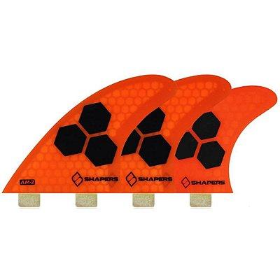 Jogo de Quilhas Shapers Dual Tab Al Merrick AM2 Core Lite 5 Fins - L