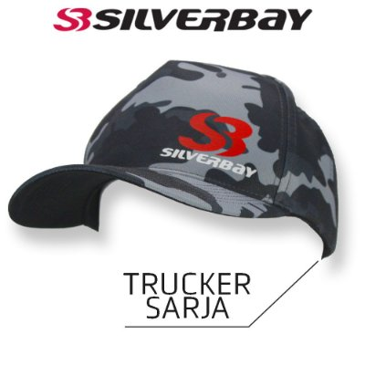 Boné Silverbay Trucker Sarja - Camo/Cinza