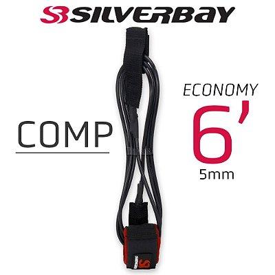 Leash Surf SILVERBAY ECONOMY COMP 6' 5mm - Preto/Vermelho