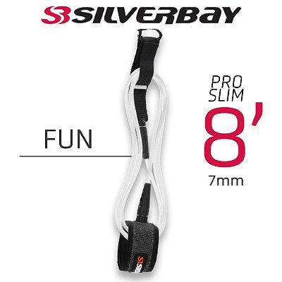 Leash Surf SILVERBAY PRO SLIM FUN 8' 7mm - Branco
