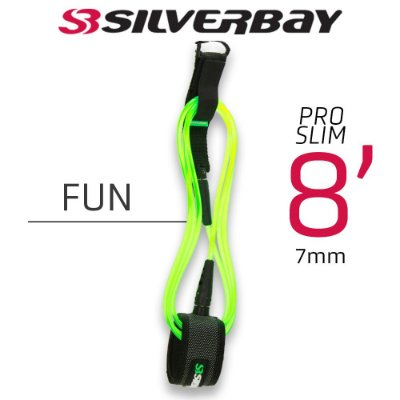 Leash Surf SILVERBAY PRO SLIM FUN 8' 7mm - Verde