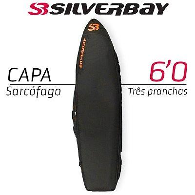 Capa Sarcófago SILVERBAY PREMIUM para Três Pranchas 6'0 - Preto