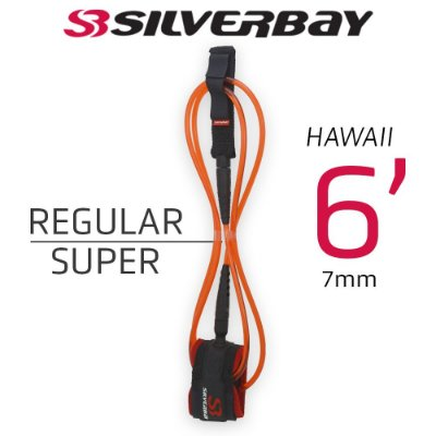 Leash Surf SILVERBAY HAWAII REGULAR SUPER 6' 7mm - Vermelho