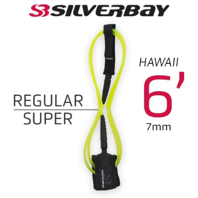Leash Surf SILVERBAY HAWAII REGULAR SUPER 6' 7mm - Limão