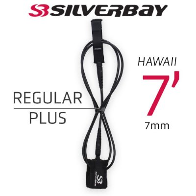 Leash Surf SILVERBAY HAWAII REGULAR PLUS 7' 7mm - Preto