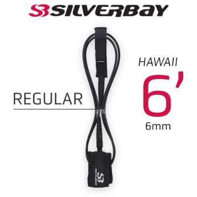 Leash Surf SILVERBAY HAWAII REGULAR 6' 6mm - Preto