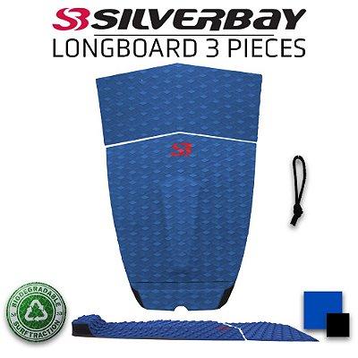 Deck Surf SILVERBAY LONG BOARD 3 peças - Azul