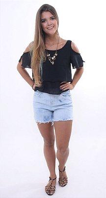 Short Jeans Cintura Alta Super Lavado