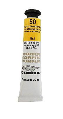 Tinta Oleo Corfix 20ml 50 Amarelo Claro Permanente