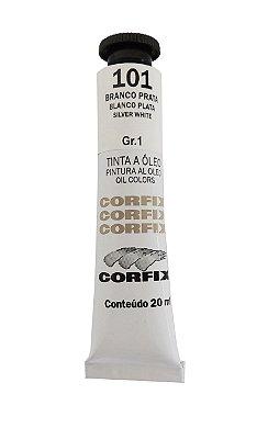 Tinta Oleo Corfix 20ml 101 Branco Prata