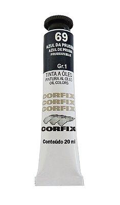 Tinta Oleo Corfix 20ml 69 Azul Prússia
