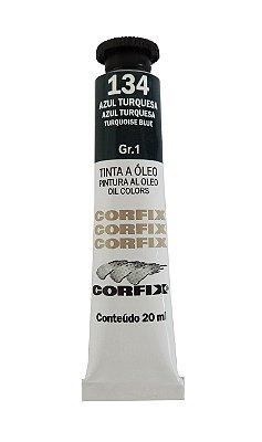 Tinta Oleo Corfix 20ml 134 Azul Turquesa