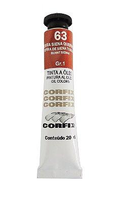 Tinta Oleo Corfix 20ml 63 Terra Siena Queimada
