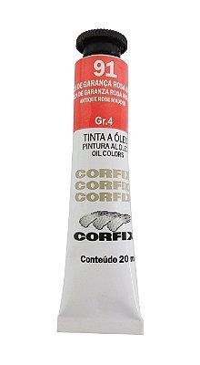 Tinta Oleo Corfix 20ml 91 Laca de Garança Rosa Antigo Grupo 4