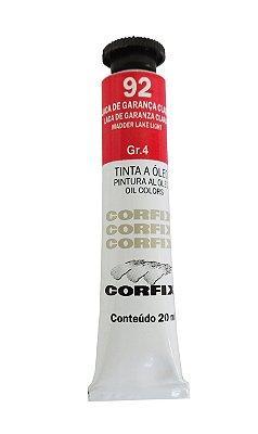 Tinta Oleo Corfix 20ml 92 Laca de Garança Clara Grupo 4