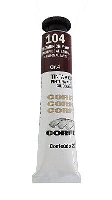 Tinta Oleo Corfix 20ml 104 Alizarin Crimson Grupo 4