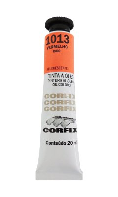 Tinta Oleo Corfix 20ml 1013 Vermelho Fluorescente