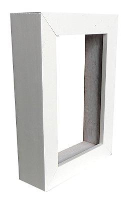 Moldura Para Painel Branca 0003 - Caixa Alta 28x38