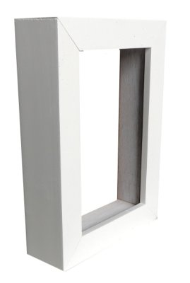 Moldura Para Painel Branca 0003 - Caixa Alta 50x50