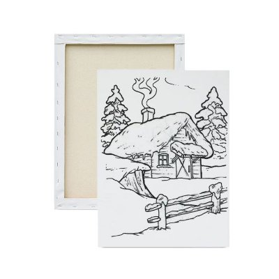 Tela para pintura infantil - Casa