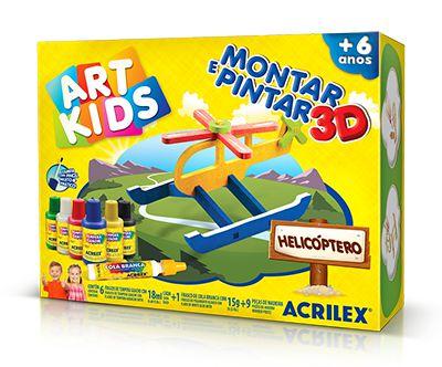 Montar e Pintar 3D – Helicóptero