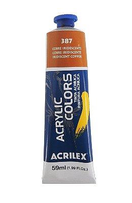 Tinta Acrilica Metalica Acrilex 59ml 387 - Cobre Iridescente