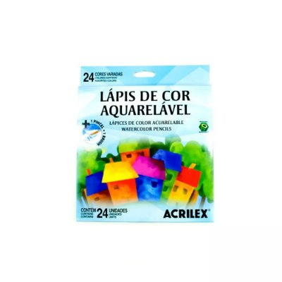 Lápis de Cor Aquarelável - 24 Cores