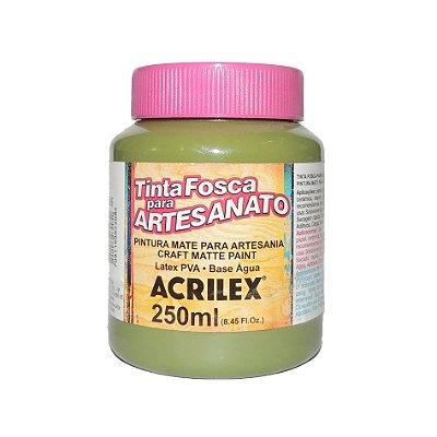 Tinta Fosca para Artesanato Acrilex 250ML - 545 Verde Oliva