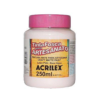 Tinta Fosca para Artesanato Acrilex 250ML - 813 Rosa Bebê