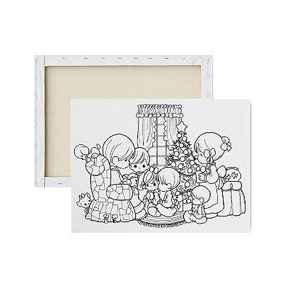 Tela para pintura infantil - Família Unida