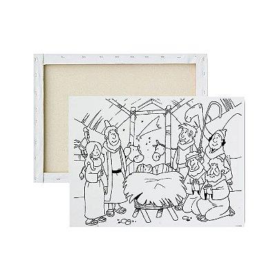 Tela para pintura infantil - Nascimento de Jesus