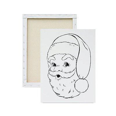 Tela para pintura infantil - Papai Noel Face