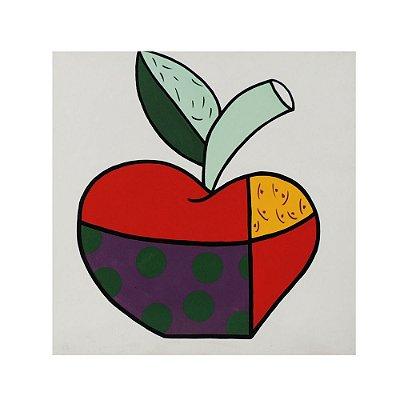 Quadro pintado à mão Pop Art - Maçã Inverno 80x80
