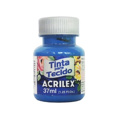 Tinta para Tecido Acrilex 37ml 501 Azul Turquesa