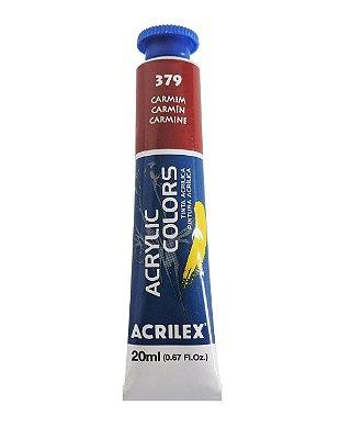 Tinta Acrilica Acrilex 20ml 379 - Carmim