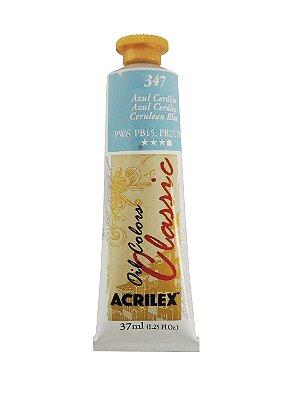 Tinta Oleo Acrilex 37ML 347 - Azul Cerúleo