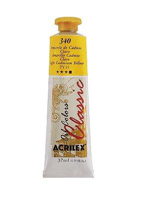 Tinta Oleo Acrilex 37 ml 340 - Amarelo de Cadmio Claro