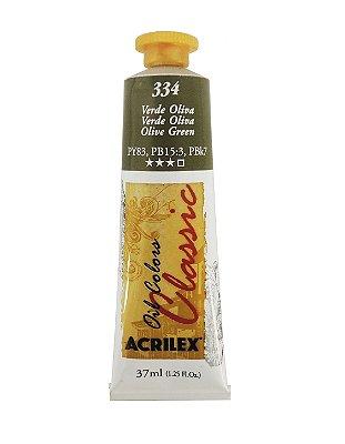 Tinta Oleo Acrilex 37ml 334 - Verde Oliva