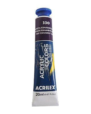 Tinta Acrilica Acrilex 20ml 330 - Violeta Permanente Escuro