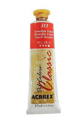 Tinta Oleo Acrilex 37 ml 313 - Vermelhão Francês