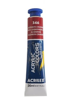 Tinta Acrilica Acrilex 20ml 346 - Alizarin Crimson